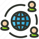 business, connection, network, shipping icon