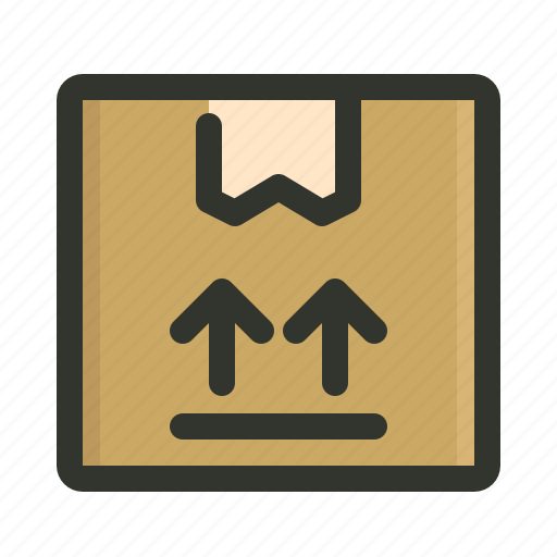 package, upper side icon
