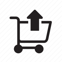 basket, business, cart, delete, ecommerce, remove, up icon