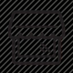 building, commerce, market, marketplace icon