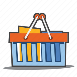 buy, ecommerce, groceries, shopping basket icon