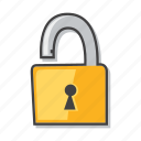 lock, padlock, risk, unlock icon
