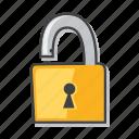 lock, padlock, risk, unlock