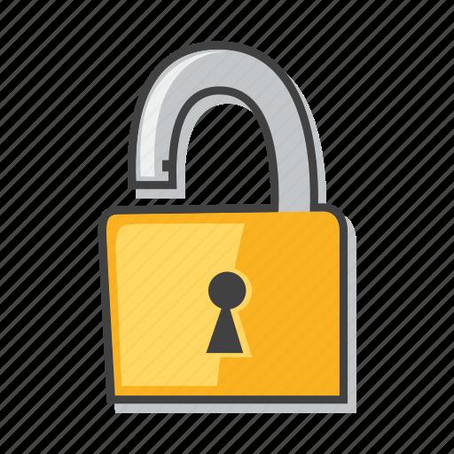 lock, padlock, risk, unlock icon