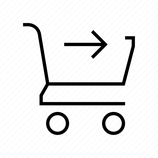 arrow, buy, cart, checkout, pay, payment icon