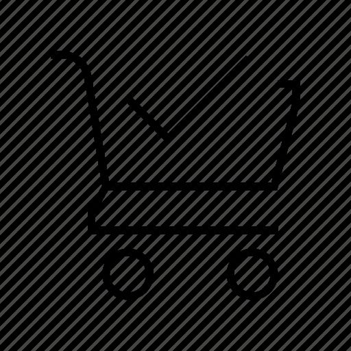 action, cart, check, shopping icon
