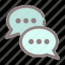 bubble, chat, communication, conversation, message, talk