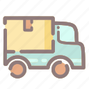 delivery, package, parcel, shipping, transport, truck