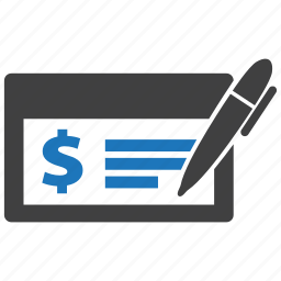 business, cash, check, cheque, dollar, money, payment icon