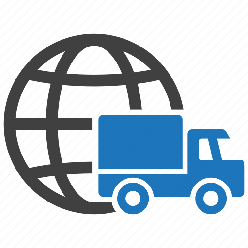 delivery, global, globe, shipping, transport, transportation, vehicle icon