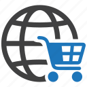 business, buy, cart, ecommerce, global, shop, shopping icon