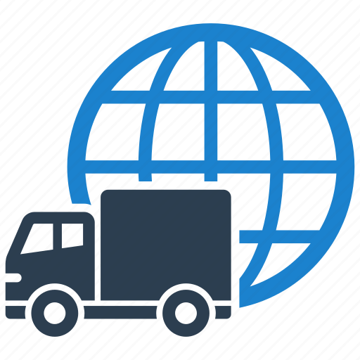 delivery, global, shipping, worldwide icon