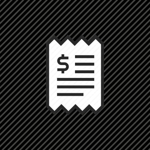 bill, document, dollar, file, money, paper icon
