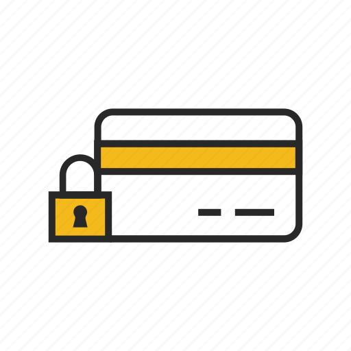 card, credit, lock, payment, protection, secure, security icon