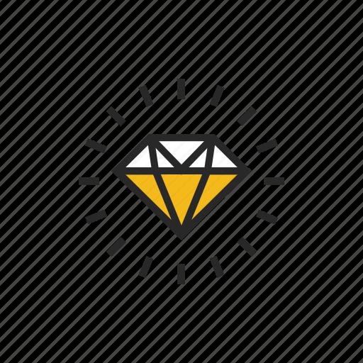 diamond, gem, jewel, jewelry, premium, product, products icon
