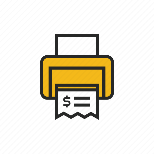 bill, cash, dollar, money, pay, payment, print icon