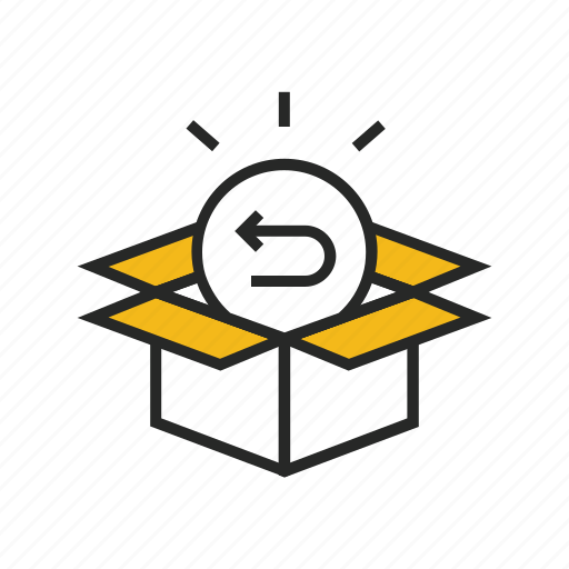 box, delivery, gift, package, present, return, stock icon