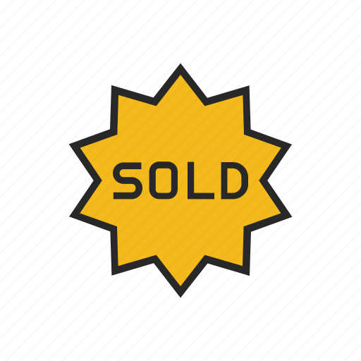 discount, product, sale, shopping, sold, tag icon
