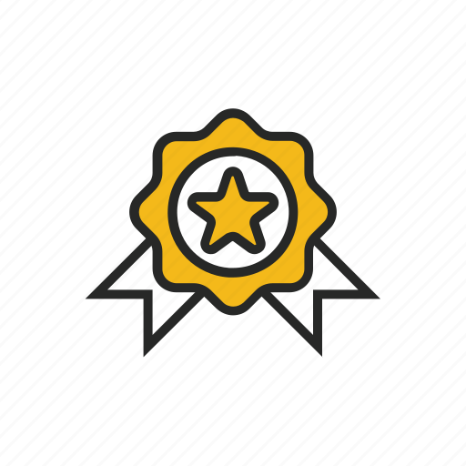 award, badge, favorite, medal, patch, prize, star icon