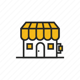 building, estate, house, real, shop, shopping, store icon