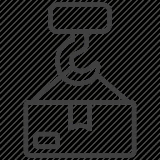 cargo, crane, goods, harbor, lift, loading, product icon