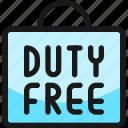 shopping, bag, duty, free