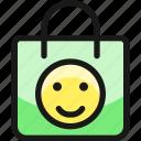 shopping, bag, smiley