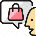 shopping, bag, user, message