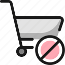 shopping, cart, disable