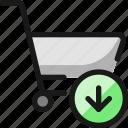 shopping, download, cart