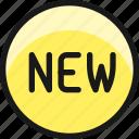 tag, new, circle