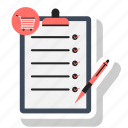 checklist, pen, paper, list, notepad