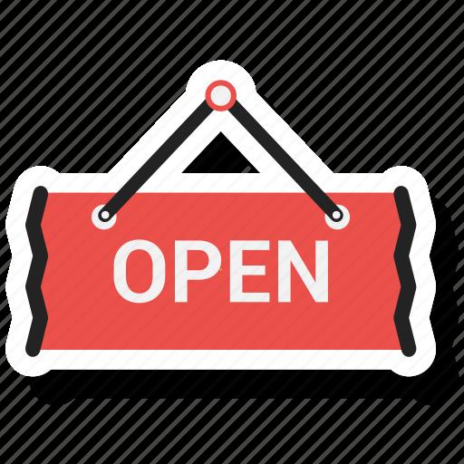 open shop, open sign icon