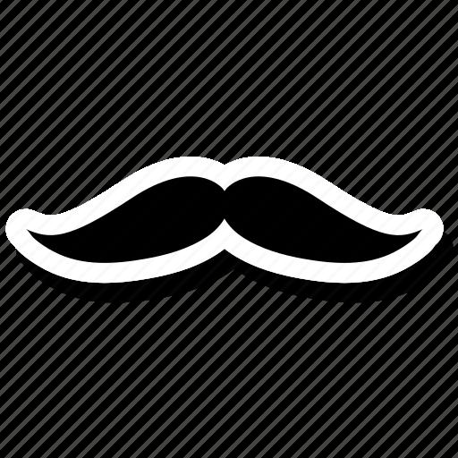 curl, facial, father, hair, moustache, mustache icon