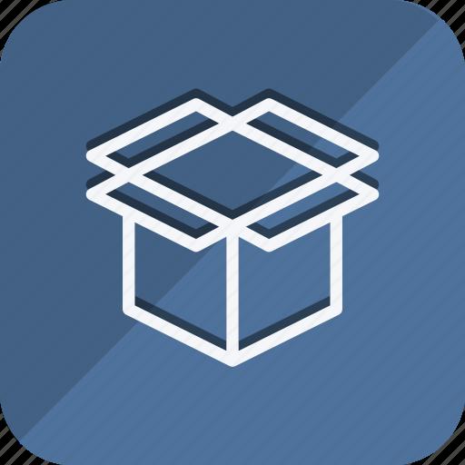 cart, ecommerce, empty box, finance, money, shop, shopping icon