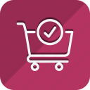 cart, check, finance, money, shop, shopping, trolly icon