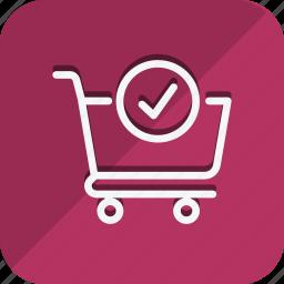 cart, check, finance, money, shop, shopping, trolly icon