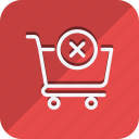 cart, cross, finance, money, shop, shopping, trolly icon