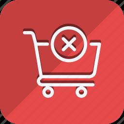 cart, cross, finance, money, shop, shopping, trolly icon