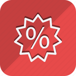 discount, ecommerce, finance, money, percentage, shop, shopping icon