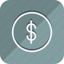 cash, currency, dollar, finance, money, shop, shopping icon