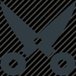 cutting tool, edit, scissor, utensil, work tool icon