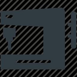needlecraft, sewing machine, tailor tool, tailoring, textile icon