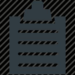 agenda, clipboard, memo, office supply, school supply icon