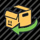 box, package, return, shopping icon