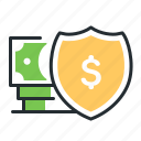 money, protection, safety, security icon