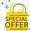 bag, discount, offer, price, sale, shopping, sticker icon
