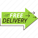 delivery, discount, offer, price, sale, shopping, sticker icon
