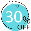discount, offer, percent, price, sale, shopping, sticker icon