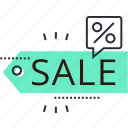 discount, offer, price, promotion, sale, shopping, sticker icon